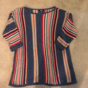 Vintage Chaps colorful striped sweater size 1X